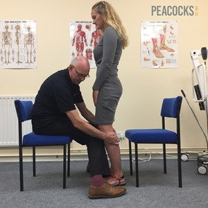 using a healthy volunteer, Paul Charlton shows his technique for assessing patients with Peripheral Neuropathy.