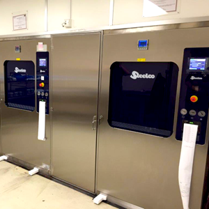 Steelco VS 12 installation at James Paget Hospital