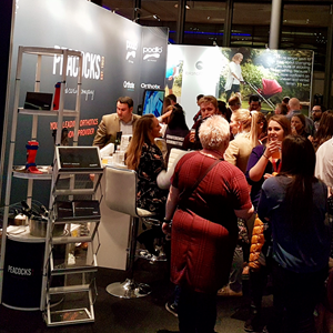 Peacocks drinks reception on Stand BAPO 2018